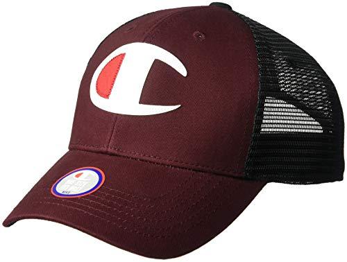 Champion LIFE Men's Twill Mesh Dad Cap, Maroon/Black, - Champion Baseball Cap