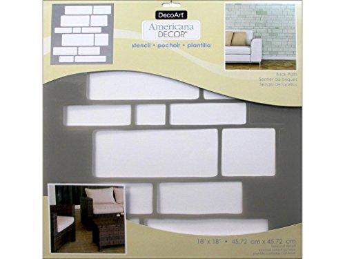DecoArt DECADS-K.413 Decor Stencil 18x18 Brickpth Americana Decor Stencil 18x18 Brick - Stencil Wall Brick