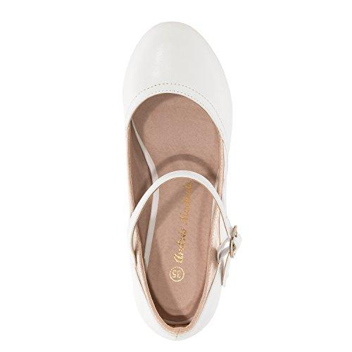 escarpins Pointures En Soft 32 35 Grandes am5187 42 petites Mary Machado Jane 45 Andres Femmes Blanc Pour Et SEqvgv