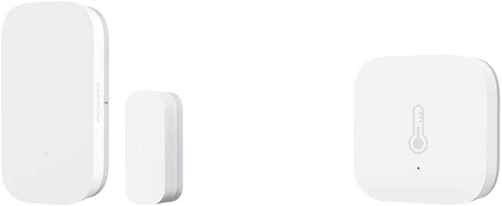 Aqara Door and Window Sensor plus Temperature and Humidity Sensor, REQUIRES AQARA HUB, Zigbee Connection, for Remote Monitoring and Smart Home Automation, Compatible with Apple HomeKit, Alexa
