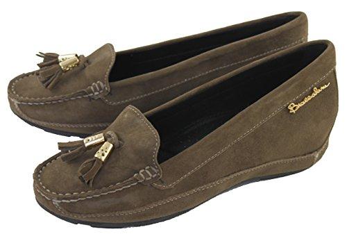 Braccialini Damenschuhe Shoe Slipper Loafers 220C taupe