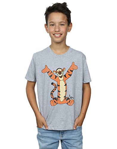 Disney Boys Winnie The Pooh Classic Tigger T-Shirt 7-8 Years Sport Grey