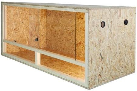 Terrario: madera Terrario para Reptiles página ventilación 100x 60x 60cm, alta calidad Terrario Madera de OSB, montaje sencillo