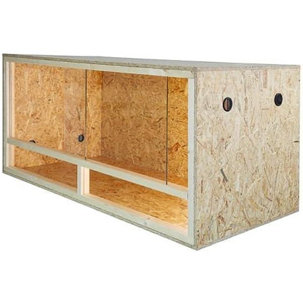 Terrario: madera Terrario para Reptiles página ventilación 100 x 60 x 60 cm, alta calidad Terrario Madera de OSB, montaje sencillo: Amazon.es: Productos para mascotas