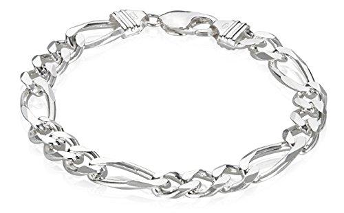 9 Inch Figaro Bracelet - 5