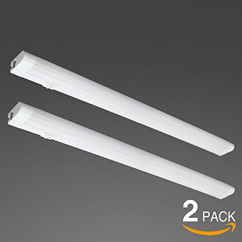 22inch Extendable Under-Cabinet Light, Eye Care 4200K Cool White,780lm Integrated T5 Tube, Multi-functional LED Workbench Light, Plug & Play Linear LED Light Bar, Pack of 2