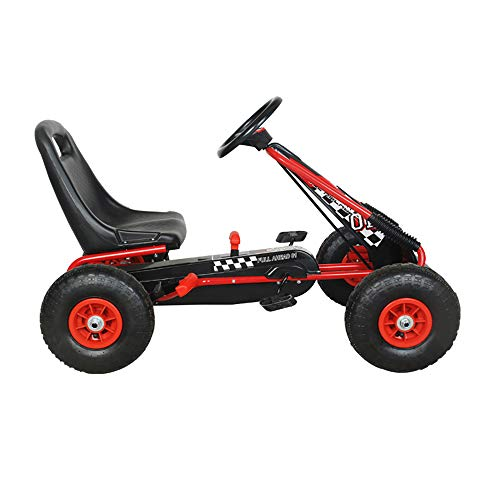 NextGen Pedal Go Cart for Children with Adjustable Seat and Pneumatic Tires, Red by NextGen Scooters (Image #1)