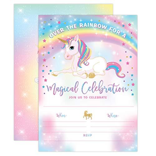Your Main Event Prints Unicorn Birthday Invitation Unicorn Party
