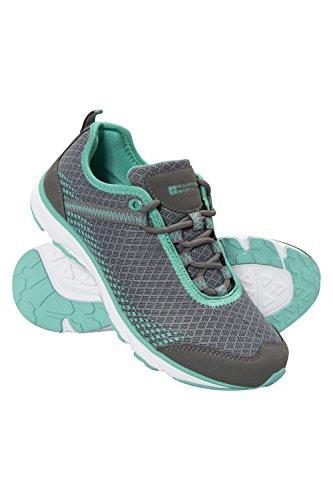 Verano Boost Las Breathable durables Corrientes Warehouse sintético señoras Mountain del Mujeres de Zapatos Las Alza de Gris del Zapatos de Zapatos Alto aq5cvX