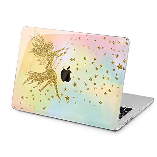 Lex Altern MacBook Case Pro 15 Cute 2018 2017 2016 Air 13 12 11 inch Apple Shell Fairy Mac Protective Gold Hard Retina Plastic Stars Laptop 2015 Touch Bar Designed -