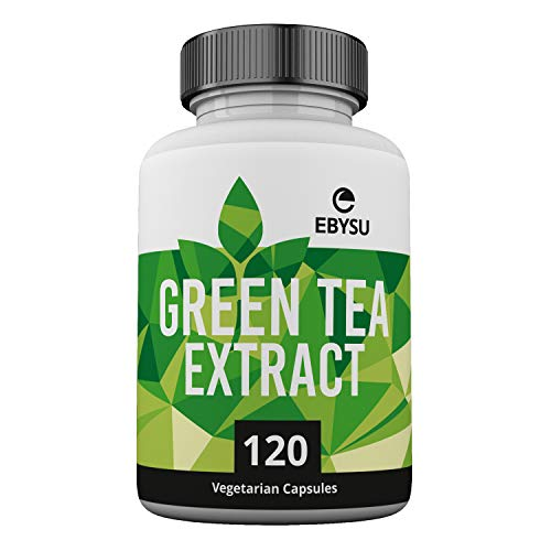 (EBYSU Green Tea Extract - 120 Day Supply - 500mg Vegan Capsules with ECGC for Energy Boost & Weight Loss - Made in USA, Non GMO Supplement Pills)