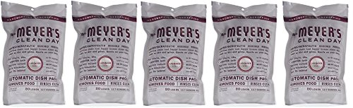 Mrs. Meyers.. Clean Day Automatic Dish Packs, Lavender, 20 ct, 3 un (5-(Pack))