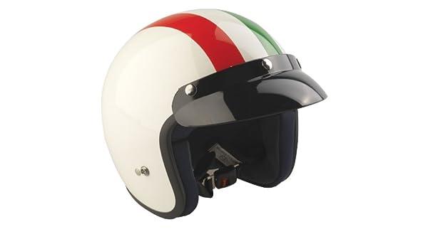 Amazon.es: RS Moto-Casco Jet 04 Italia Moto Casco Jet Scooter Touring Cascos de la Bandera de Italia L Rosso/Bianco/Verde