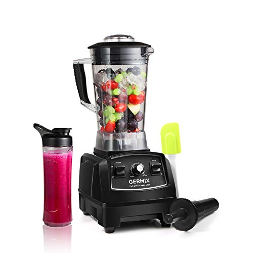 Cheap GERMIX 8 Blade Professional 64oz Countertop Blender with High Power Base 10-Speed Setting and BPA-Free Pitcher for Dough, Smoothies, Chopping, Blending, Black
