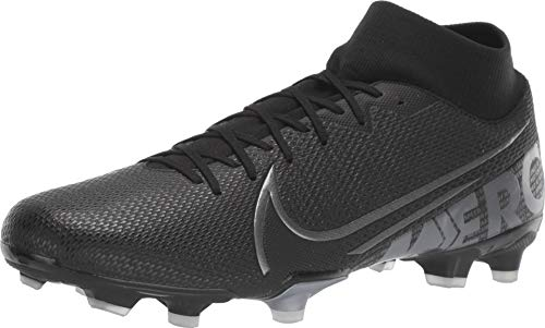 Nike Men's Soccer Mercurial Superfly 7 Academy Multi Ground Cleats (9.5 Women / 8 Men M US) Black