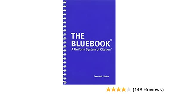 Amazon com: The Bluebook: A Uniform System of Citation, 20th