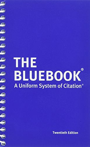 The Bluebook: A Uniform System of Citation, 20th Edition