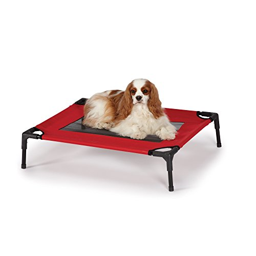 Guardian GearA Pet Cots with Mesh Panels  -  Comfortable Polyester/PVC Elevated Cots for Dogs and Cate - Medium, 30