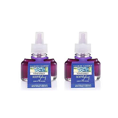(Yankee Candle Vineyard Scent Plug Refill Bottles 0.6 Oz (Pack of 2 Refills) )