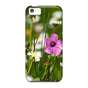 Hot Snap-on Nature Flowers Flowers Field Hard Cover Case/ Protective Case For Iphone 5c