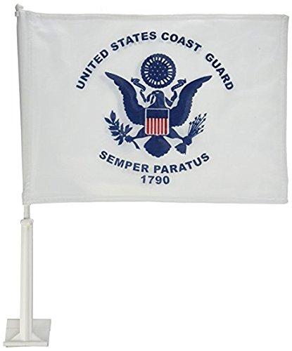 AES 12x18 U.S. Coast Guard USCG Single Sided Car Vehicle 12