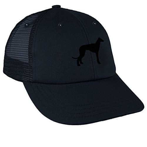 - Snapback Baseball Cap Italian Greyhound Silhouette Embroidery Design Cotton Mesh Hat Snaps Navy Design Only