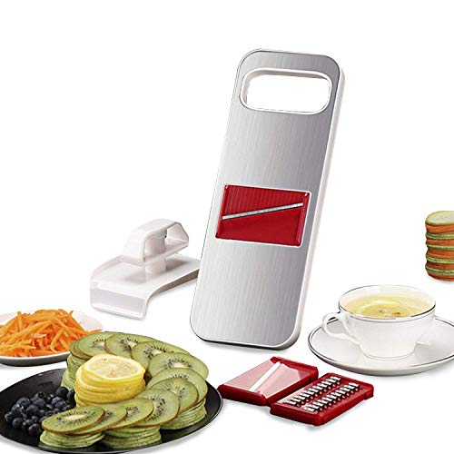 Mandoline Slicer Magnetic 3 in 1 Vegetable Grater is Made of Premium Stainless Steel With Finger -