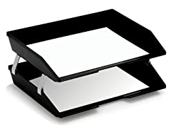 Acrimet Facility Double Letter Tray Black Color