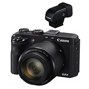Canon PowerShot G3 X Digital Point & Shoot Camera with Electronic View Finder