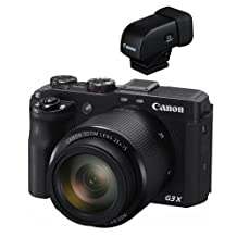 Canon PowerShot G3-X Compact Digital Camera - Bundle with Canon EVF-DC1 Electronic Viewfinder for G1 X Mark II, G3X & EOS M3 Cameras