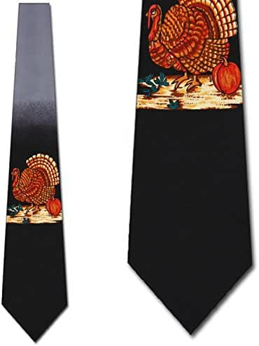 Thanksgiving Turkey Necktie Mens Tie