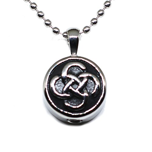 Lauren Annabelle Studio Cremation Jewelry for Ashes Celtic Knot in Circle Irish Necklaces Stainless Pendant