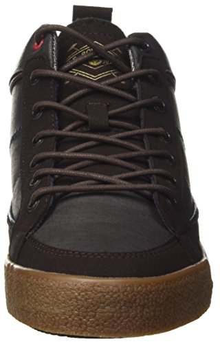 U S Sylvester Marrone ASSN Dark a POLO Uomo Sneaker Collo Alto Brown HraqHw