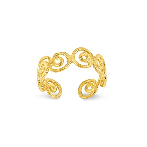 Roy Rose Jewelry 14K Yellow Gold Scroll Toe Ring 14k Yellow Gold Scroll