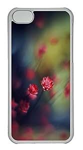 Customized iphone 5C PC Transparent Case - Floret Cover