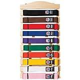 Free Standing Wooden 10 Belt Display