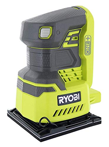 Ryobi P440 One+ 18V Lithium Ion 12,000 RPM 1/4 Sheet Palm Sander w/ Onboard Dust Bag and Included Sanding Pads (Battery Not Included, Power Tool Only) (Renewed)
