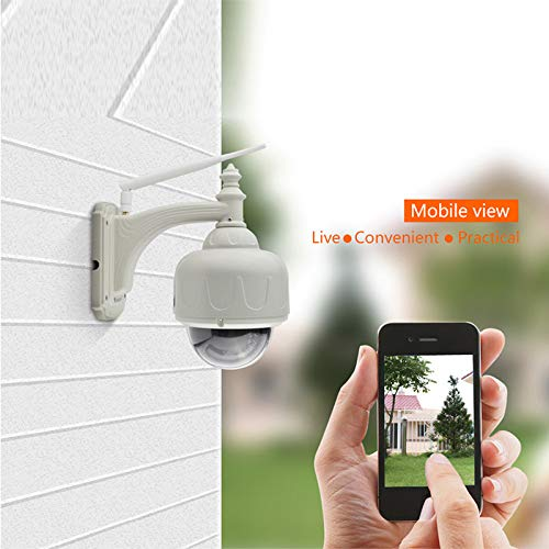 Outdoor Security Camera VStarcam C34S IP66 Waterproof 1080P 2MP Outdoor Camera 4X Zoom PTZ Onvif Surveillance Camera with 98ft Night Vision, Motion Detection, Wired or WiFi Camera Ivory