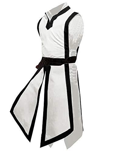 Mercenary Halloween Costumes (Pengfei Mens Pirate Medieval Viking Renaissance Halloween Coats Mercenary Costume Shirts)