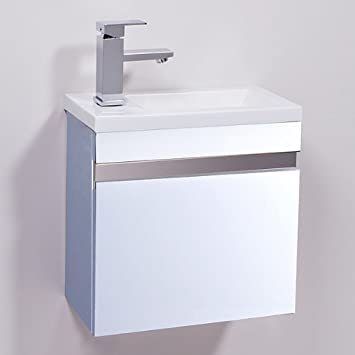 small sink with vanity unit. 400 Vanity Unit with Basin Compact Small Cloakroom Bathroom Mounted Storage  Furniture Sink Wall Hung