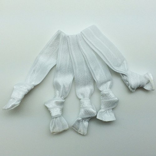 PEPPERLONELY Brand 20PC No Crease Elastic Hair Ties - White