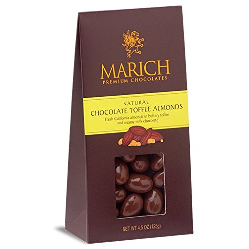 Marich Confectionery Chocolate Toffee Almonds, 4.25 ()