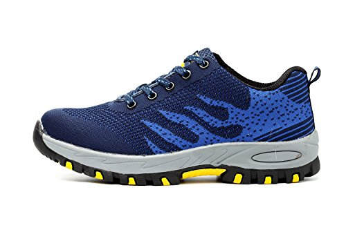 Lightweight Blue Trainers Steel Protection Midsole Safety Mens Hiker Work X Cap Toe Shoes Womens xOEFE8U