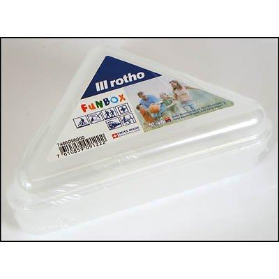 Sandwichbox Kunststoff, transparent, 18x10x7cm, mit Klickverschluß, Swiss Made