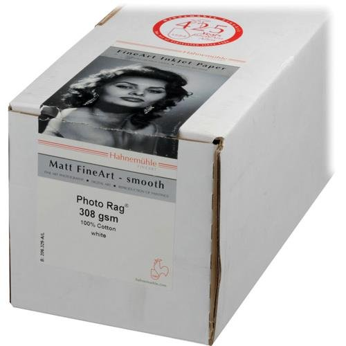 Hahnemuhle Matte Photo Rag, 100 % Rag, Smooth, Bright White Inkjet Paper, 188 g/mA, 17