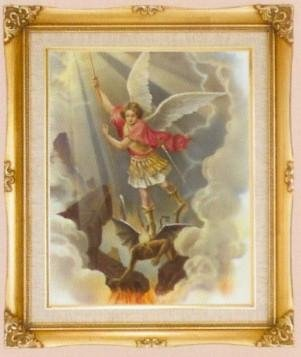 St. Michael Framed Art by Discount Catholic Store
