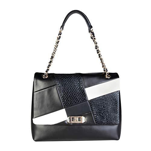 Blu Bag Byblos Shoulder Designer Rrp Women Black Genuine wtqtnrd8Uf