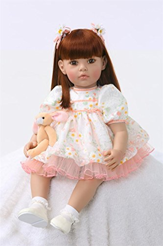 Pursue Baby Lifelike Baby Collection Doll Girl Sara , 24 Inch Weighted and Poseable Real life Princess Doll with Matching Outfits by Pursue Baby