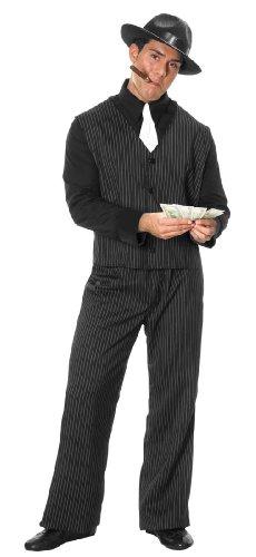 Mens Plus Gangster Man Costume ()