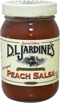 Jardines Texas Foods Salsa, Peach, Med, 16-Ounce (Pack of 3)